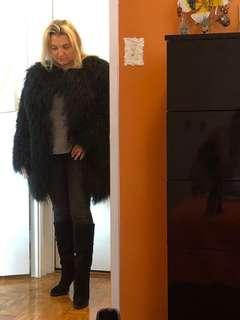 Real Llama fur coat. Brand new. Size L