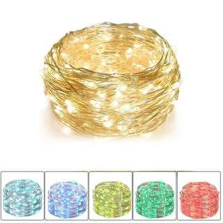 [PO] 10m 100 LEDs Wire Battery Operated Fairy Lights