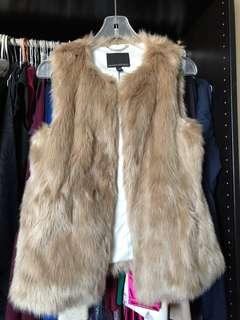Banana Republic Faux Fur Vest