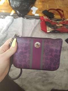 Purple Leather Coach wallet