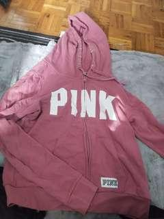 PINK mauve hoodie LARGE