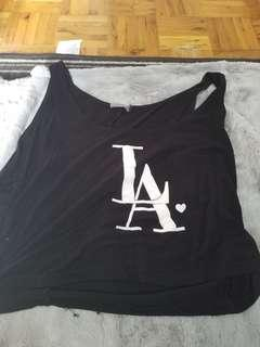 LA cropped hoodie size large