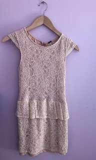 Dress - Ivory/ Lace/Mini
