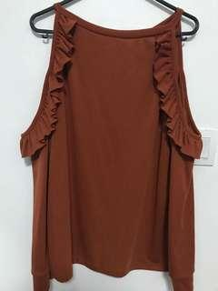 Burnt orange brown TOP
