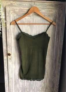 (Seldom Used) BRANDED Aeropostale Army Green Cami