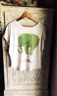 (Used) Quirky elephant shirt