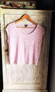 (Used) Pink Lace Top