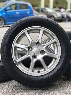 original 14 inch sports rim bezza free gift tyre