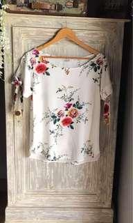 (New) Floral Peek A Boo Blouse