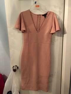 Light Pink Bodycon Dress