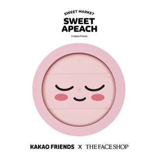 全新 韓妝 THE FACE SHOP x KAKAO FRIENDS「SWEET APEACH」限定系列 淨透控油柔膚蜜粉