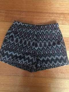 Dotti high waisted printed shorts