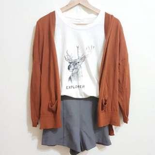 🚚 Queenshop 駝色針織外套