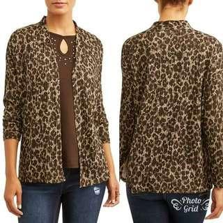Blouse Cardi 2in1 Branded TIMETRU Atasan Baju Blouse Bigsize Jumbo Plussize
