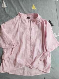 粉紅綁結上衣~