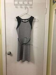 Guess Stripe Mesh Dress (comes with belt!)