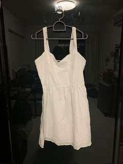 🚚 vintage white COTTON ON babydoll dress