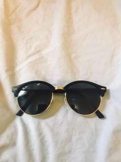 rayban clubmaster black kacamata sunglasses