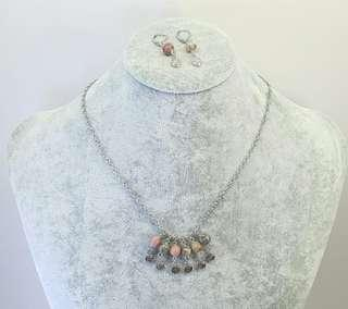 Tamika Necklace & A Pair of Dangling Earrings