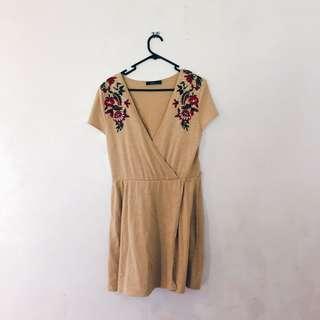 Zara floral knit dress