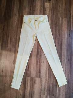 Zara Yellow Jeans