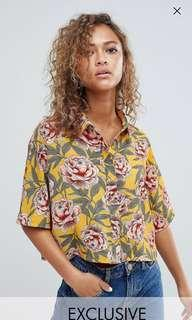 🚚 YELLOW FLORAL TOP