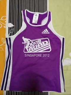 Adidas King of the road 2012 purple running tee