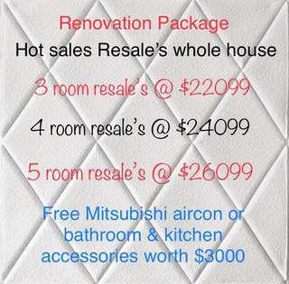🔥Hot sales HDB resale package for renovations 🔥