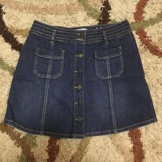 Denim Skirt Buttondown