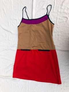 Spring CNY red purple dress