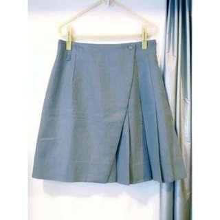 🚚 日本專櫃羊毛呢高腰百褶裙