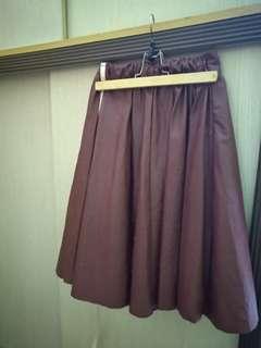Red Leather Flare Skirt #SparkJoyChallenge