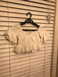 BOOHOO off shoulder crop too