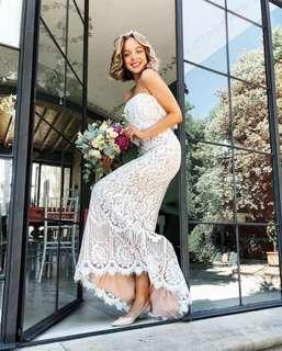 Elegant white wedding/cocktail lace dress 白色仙氣輕婚紗/禮服裙