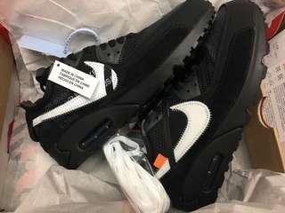 Off White X Nike air max 90 Black US8