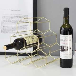 Gold Nordic/ Rose Gold Metal Wine Bottle Holder