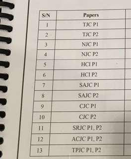 2018 H2 Math JC Prelim Exam Papers Booklet