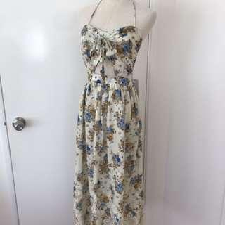 Floral midi dress size 8 NWT