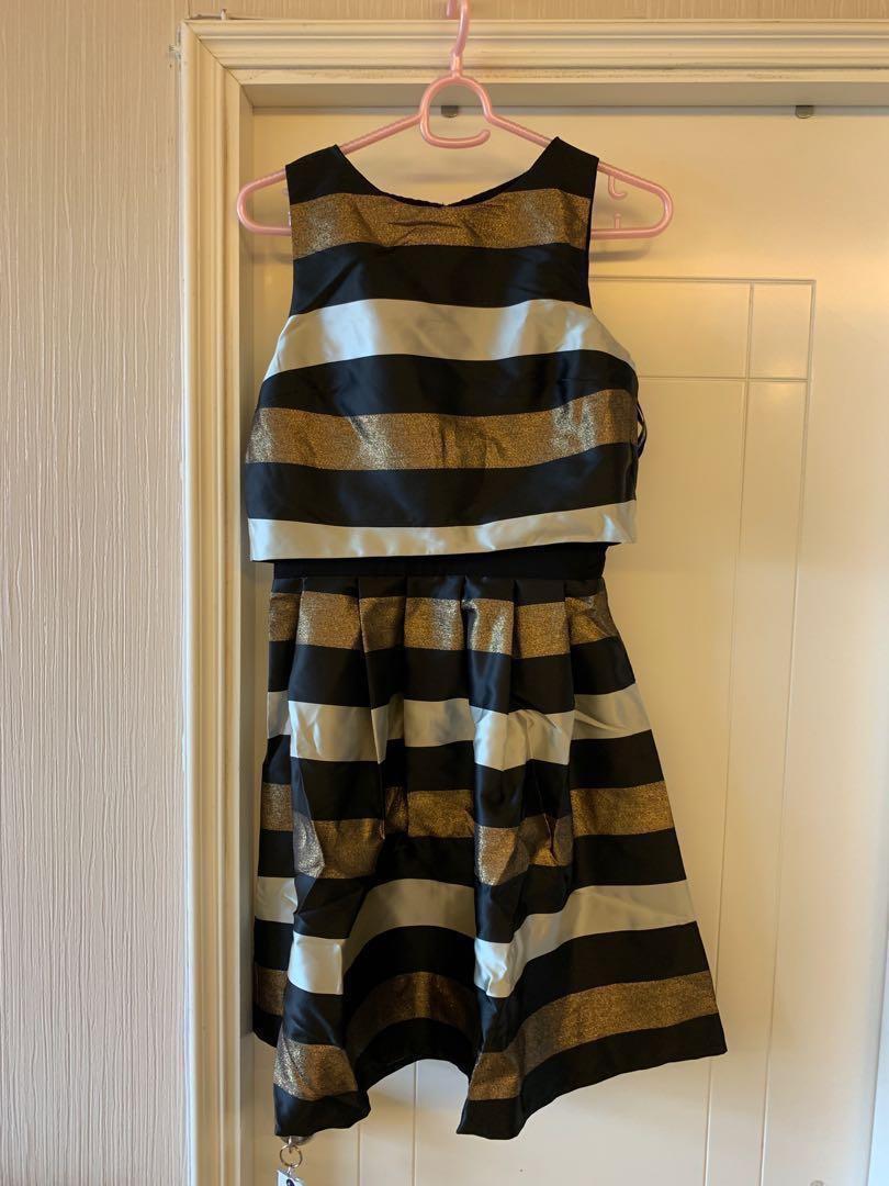 100%全新黑金色飲宴裙 Party dress black and gold #newbieFeb19