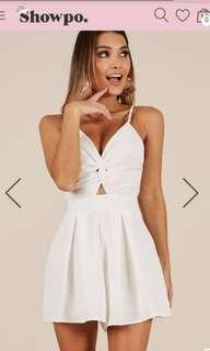 Brand new white Showpo Playsuit