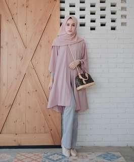 Shakina Long Outer Dusty Pink