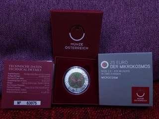 奧地利 25歐羅 罕有銀鈮雙金屬 精鑄限量記念幣