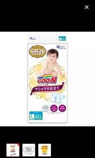 Goon Marshmallow Tape Diapers L