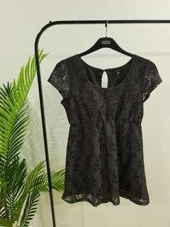 Cute Lacey Black Cotton On Dress