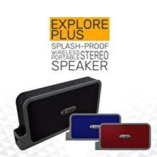 Black x mini explorer plus wireless BT speaker IPX4 water resistant