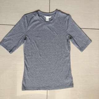 H&M ribbed grey top