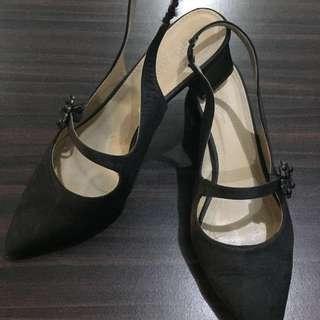 Parisian Black Block Heels