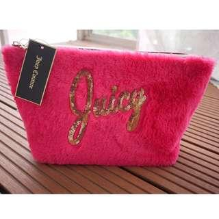 NWT Juicy Couture Large Cosmetic Velour Bag