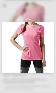 reebok t shirt running dri fit M gym