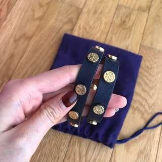 authentic tory burch bracelet in navy